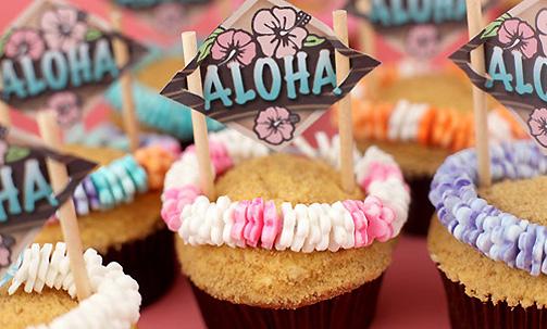 Decoracion Hawaiana Facil ~ Cupcakes hawaianas para disfrutar del verano  Cocinar con ni?os
