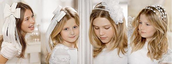 Diademas, Tocados y Zapatos de El Corte Inglés. Diademas, horquillas y complemento de pelo para niñas 2012
