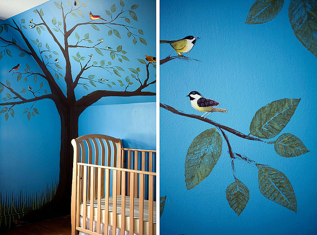 Decoraciones Naif ~ Decorar con ?rboles las paredes infantiles  Muebles y decoraci?n
