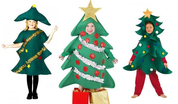 Disfraz casero fácil de Árbol de Navidad - Manualidades para ...