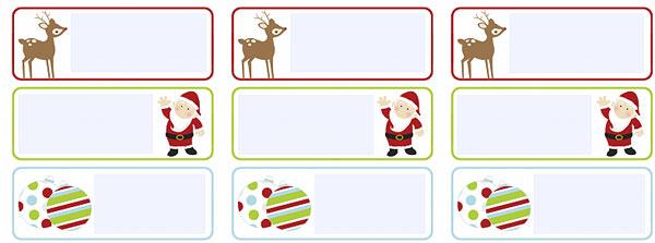 Etiquetas para personalizar los regalos para navidad y el menú ...