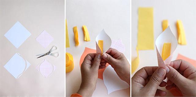 Как сделать цветок из бумаги коалы