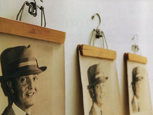 Marcos originales para cuadros imagui for Perchero pared sin agujeros