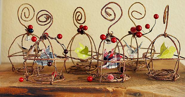 Jaulas Para Decoracion Baratas ~ Adornos para Navidad Manualidades navide?as para decorar el ?rbol