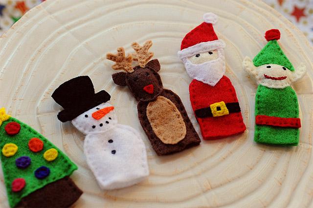 Marionetas de dedo - Manualidades fieltro Navidad - Especial ...