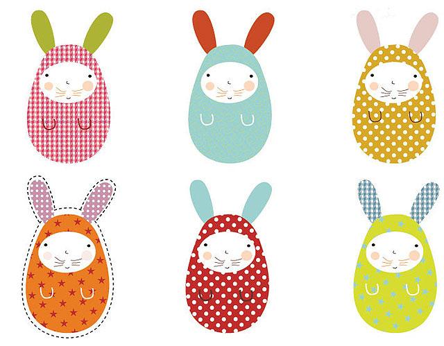 Conejos de pascua de papel para hacer con niños - Manualidades ...