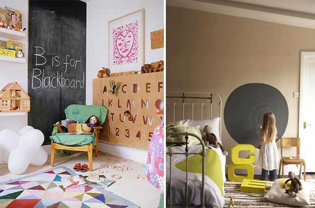 Mi rinc n de sue os pintura de pizarra - Ideas para pintar habitaciones infantiles ...