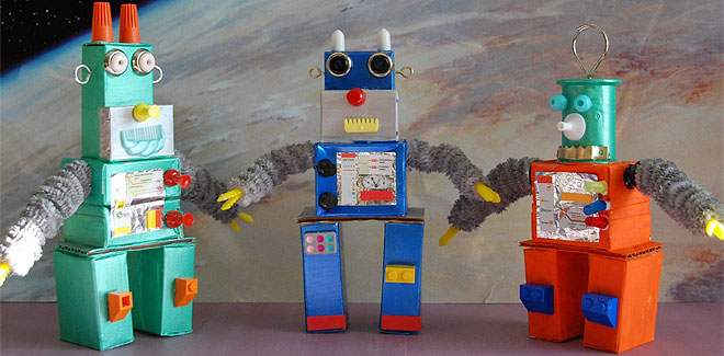 Como Hacer Un Robot Con Cajas De Carton