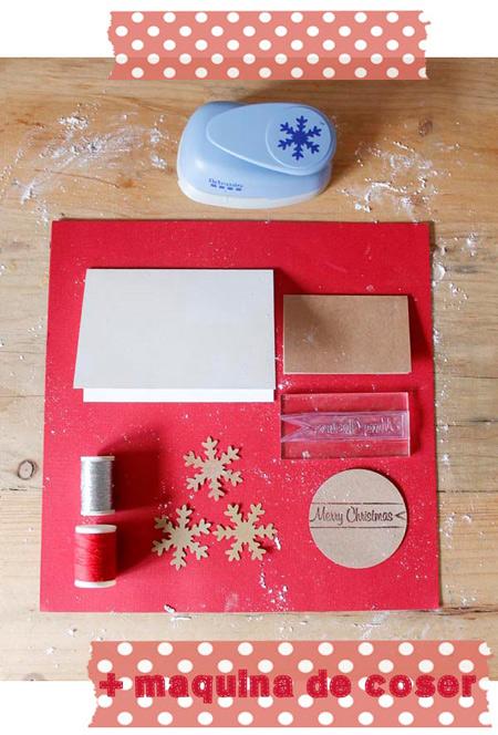 Postales de navidad manualidades con cartulina para - Como hacer una tarjeta de navidad original ...