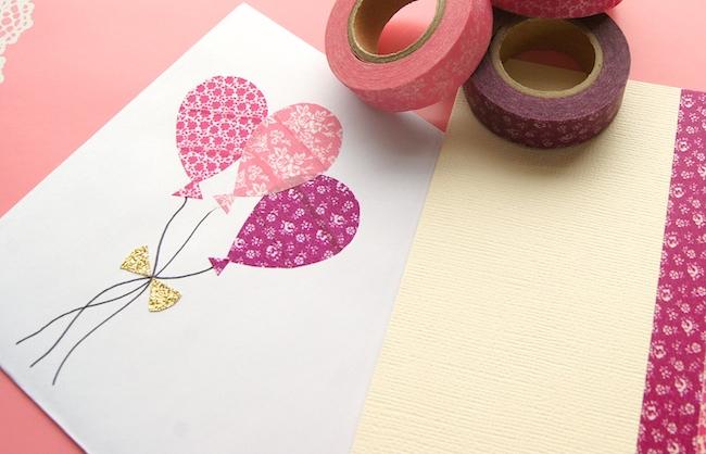 Invitaciones de cumpleaños hechas con washi tape - Invitaciones ...