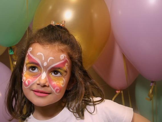 Pintacaras de Mariposa para niñas Pintacaras de Tigre para niños