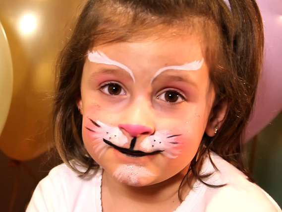 Pintacaras de gatito para niños y niñas Pintacaras de Tigre para ...