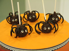 Cake Pops de araa para Halloween