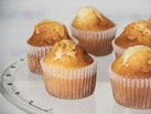Receta de cupcakes de vainilla sin gluten.